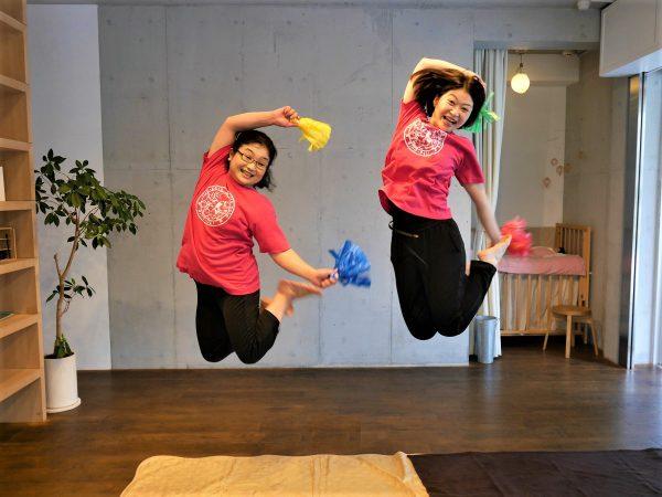 7月リトピュアレッスンは、先生と一緒に飛びましょう!親子で楽しく!